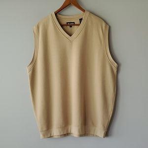 bolle Golf Tan V Neck Sleeveless Shirt Mens XL